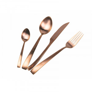 Park Avenue Set 24 posate in acciaio copper opaco
