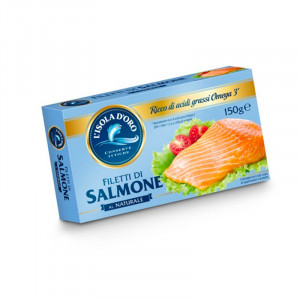 Filetti di salmone al naturale - 150 gr.